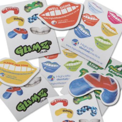 Image of Sheet Of Random Shaped Stickers A6