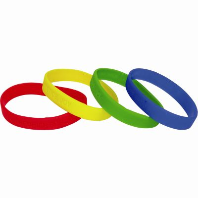 Image of Adult Silicone Wristband (UK Stock: Available in Red Blue Green or Yellow)