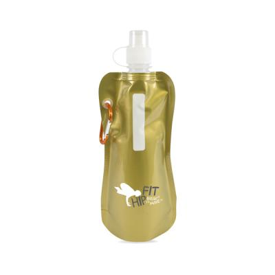 Image of Metallic Fold Up Bottle 400Ml Metallic Reusable Roll Up Bottle