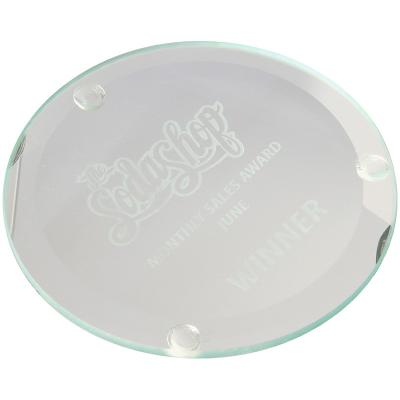 Image of 10cm Jade Glass Round Coaster
