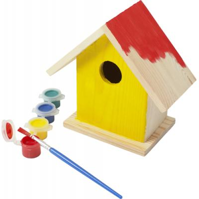 Image of Birdhouse with painting set