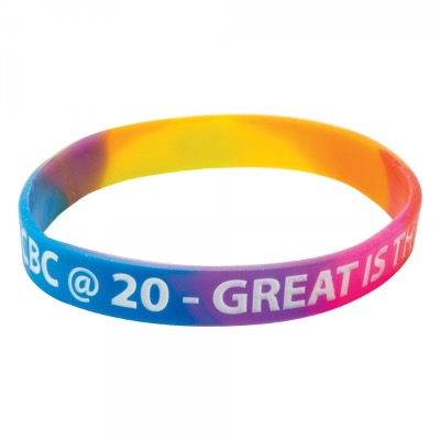 Image of Silicone Wristband (Adult: Multicoloured Material)