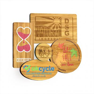 Image of Bespoke Shape Bamboo Fridge Magnets
